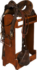 Military & Patriotic:WWI, Large Military Saddle and Tack Group.. ...