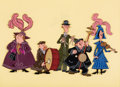 Animation Art:Production Cel, Mary Poppins Pearly Band Production Cel (Walt Disney,1964)....