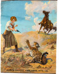 Advertising:Signs, 1921 Colt Revolver First Edition Spanish Advertising Poster.. ...