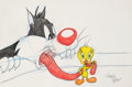 Animation Art:Production Drawing, Virgil Ross - Tweety and Sylvester Drawing (Warner Brothers, c.1990s). ...