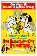 "Movie Posters:Animation, 101 Dalmatians (Buena Vista, 1961). Folded, Fine+. One Sheet (27"" X41""). Animation.. ..."