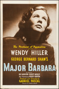 "Movie Posters:Comedy, Major Barbara (United Artists, 1941). Folded, Very Fine-. One Sheet(27"" X 41""). Comedy.. ..."