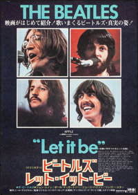 """Let It Be (United Artists, 1970). Rolled, Very Fine. Japanese B2 (20.25"""" X 28.75""""). Rock and Roll"""