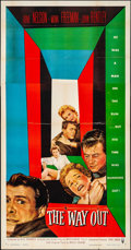 """Movie Posters:Crime, The Way Out (RKO, 1956). Folded, Fine/Very Fine. Three Sheet (41"""" X 79). Crime.. ..."""