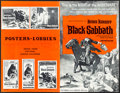 "Movie Posters:Horror, Black Sabbath & Other Lot (American International, 1964).Folded, Overall: Fine/Very Fine. Uncut Pressbook (12 Pages, 11"" X... (Total: 3 Items)"