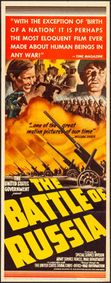 "The Battle of Russia (20th Century Fox, 1943). Folded, Fine/Very Fine. Insert (14"" X 36"") & Title Lobby Ca..."