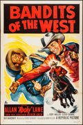 "Movie Posters:Western, Bandits of the West & Other Lot (Republic, 1953). Folded, VeryFine-. One Sheets (2) (27"" X 41""). Western.. ... (Total: 2 Items)"