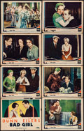 "Movie Posters:Drama, Bad Girl (Fox, 1931). Fine. Lobby Card Set of 8 (11"" X 14""). Drama.From the Collection of Frank Buxton, of which the sale...(Total: 8 Items)"