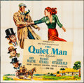 "Movie Posters:Drama, The Quiet Man (Republic, 1952). Folded, Fine/Very Fine. Six Sheet(80.25"" X 79.75""). Drama. From the Collection of Frank B..."