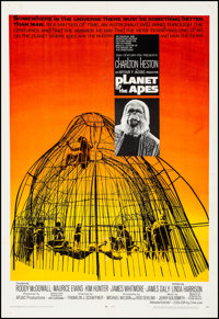 """Planet of the Apes (20th Century Fox, 1968). Fine/Very Fine on Linen. One Sheet (27"""" X 41""""). Science Fiction..."""