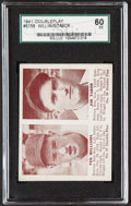 Baseball Cards:Singles (1940-1949), 1941 Double Play Ted Williams/Jim Tabor #57/58 SGC 60 EX 5....