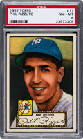 Baseball Cards:Singles (1950-1959), 1952 Topps Phil Rizzuto (Red Back) #11 PSA NM-MT 8.