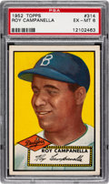 Baseball Cards:Singles (1950-1959), 1952 Topps Roy Campanella #314 PSA EX-MT 6....