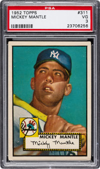 1952 Topps Mickey Mantle #311 PSA VG 3