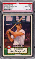 Baseball Cards:Singles (1950-1959), 1952 Topps Ted Kluszewski (Black Back) #29 PSA NM-MT 8....