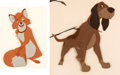 Animation Art:Production Cel, The Fox and the Hound Tod and Copper Production Cels Display(Walt Disney, 1981)....