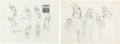 Animation Art:Concept Art, Mulan Character Development Drawings Set of 2 (Walt Disney,1998).... (Total: 2 Original Art)