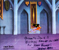 Animation Art:Production Cel, A Connecticut Rabbit in King Arthur's Court Yosemite SamProduction Cel Signed by Michael Maltese (Warner Brothers, 19...