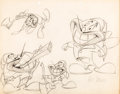 animation art:Model Sheet, The Pest That Came to Dinner Pierre the Termite Animator'sPractice Model Sheet Drawing Signed by Art Davis (Warner Br...