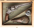 Handguns:Single Action Revolver, Cased Starr Arms Army Single Action Revolver.. ...