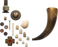 Military & Patriotic:Civil War, Civil War: Lot of Dug Bullets and Other Related Relics.. ... (Total: 2 Items)
