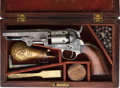Handguns:Single Action Revolver, Cased Factory Engraved Colt 1849 Pocket Single Action Revolver Attributed to 13th Maine Infantry Sergeant Major Levi L. Hawes....