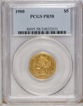 Proof Liberty Half Eagles: , 1900 $5 PR58 PCGS. A collectible example of this very rare proofissue. Although 230 proofs were struck, most of these no l...