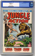 Bronze Age (1970-1979):Miscellaneous, Jungle Action #1 (Marvel, 1972) CGC NM 9.4 Off-white to whitepages. John Buscema cover. There is a crack on the upper back ...