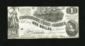 Confederate Notes:1862 Issues, T44 $1 1862. This handsome Crisp Uncirculated $1 is trimmed closeon three sides with the bottom edge exhibiting a slice...