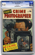 Golden Age (1938-1955):Crime, Casey Crime Photographer (Canadian edition) #1 (Bell Features, 1949) CGC VF/NM 9.0 Off-white pages. Photo cover, with 52 pag...