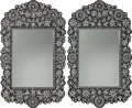 Decorative Accessories, A Pair of Moorish-Style Mother-of-Pearl Inlay and Ebonized Wood Mirrors, late 19th-early 20th century. 60 x 38-1/4 inches (1... (Total: 2 Items)
