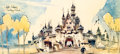 "Animation Art:Poster, ""Castle Entrance - Fantasyland"" Herb Ryman Limited Edition Print#236/300 (Walt Disney, 1986)...."