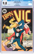 Golden Age (1938-1955):Superhero, Single Series #22 Iron Vic - Mile High Pedigree (United Feature Syndicate, 1940) CGC NM/MT 9.8 White pages....