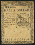 Continental Currency February 17, 1776 $1/2 Fine
