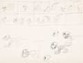 Animation Art:Concept Art, Spooks Thumbnail/Character Development Drawing by Ub Iwerks(Celebrity Pictures, 1932)....