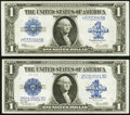 Large Size:Group Lots, Fr. 237 $1 1923 Silver Certificate Choice About New;. Fr. 238 $1 1923 Silver Certificate Choice About New.. ... (Total: 2 notes)