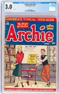 Golden Age (1938-1955):Humor, Archie Comics #36 (Archie, 1949) CGC GD/VG 3.0 Cream to off-white pages....