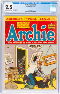 Archie Comics #21 (Archie, 1946) CGC GD+ 2.5 Off-white to white pages