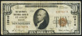 National Bank Notes:Missouri, Saint Louis, MO - $10 1929 Ty. 1 The Boatmen's NB Ch. # 12916Fine-Very Fine.. ...