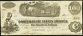 Confederate Notes:1862 Issues, T40 $100 1862 PF-3 Cr. 302 Very Fine-Extremely Fine.. ...