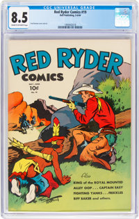 Red Ryder Comics #19 (Dell, 1944) CGC VF+ 8.5 Off-white to white pages