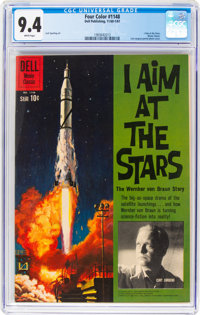 Four Color #1148 I Aim at the Stars (Dell, 1961) CGC NM 9.4 White pages