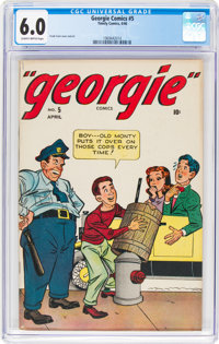 Georgie Comics #5 (Timely, 1946) CGC FN 6.0 Slightly brittle pages