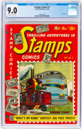 Golden Age (1938-1955):Miscellaneous, Stamps Comics #7 (Youthful Magazines, 1952) CGC VF/NM 9.0 Off-white to white pages....