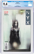 Modern Age (1980-Present):Science Fiction, NYX #3 (Marvel, 2004) CGC NM 9.4 White pages....