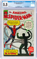 Silver Age (1956-1969):Superhero, The Amazing Spider-Man #3 (Marvel, 1963) CGC FN- 5.5 Off-white towhite pages....