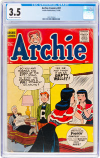 Archie Comics #81 (Archie, 1956) CGC VG- 3.5 Off-white to white pages