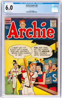Archie Comics #82 (Archie, 1956) CGC FN 6.0 Off-white pages