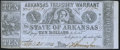 Obsoletes By State:Arkansas, (Little Rock), AR - Arkansas Treasury Warrant $10 Apr. 25, 1863 Cr. 56 Extremely Fine.. ...