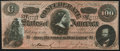 Confederate Notes:1864 Issues, CT65 Havana Counterfeit $100 1864 About Uncirculated.. ...